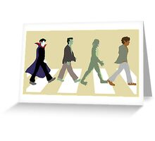 Monsters of Abbey Road Greeting Card