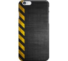 Warning Stripes Background Texture iPhone Case/Skin
