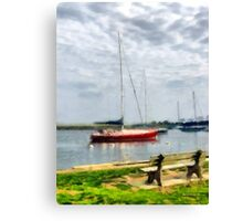 Southport Harbor in Spring Canvas Print