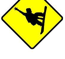 Snowboarder Crossing by kwg2200