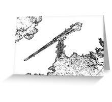 Crane Outline Greeting Card