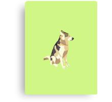 Light Yellow-Green Puppy Canvas Print