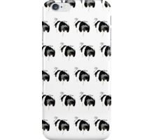Light Red Puppy White Pattern iPhone Case/Skin
