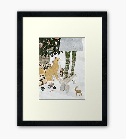 Christmas tree decorating Framed Print
