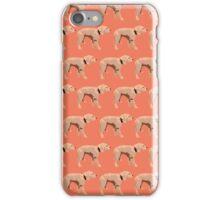 Peach Golden Retriever Pattern iPhone Case/Skin