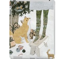 Christmas tree decorating iPad Case/Skin