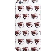 Pink Puppy White Pattern iPhone Case/Skin