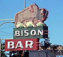 Bison Bar - Miles City, Montana by Frank Romeo