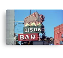 Bison Bar - Miles City, Montana Canvas Print
