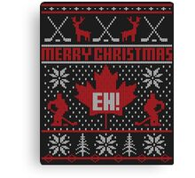 Canadian Christmas Ugly Sweater Canvas Print