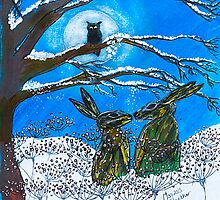 Hares Together by Jo Williams  (Mog Crusoe made in Cornwall)