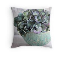 Hydrangea head Throw Pillow