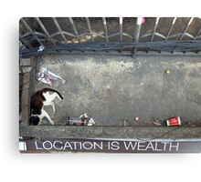 Location is Wealth Canvas Print