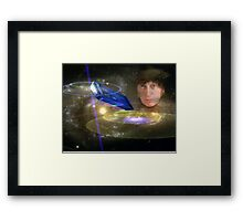 Dr Who In Space Framed Print