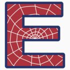 E letter in Spider-Man style by florintenica
