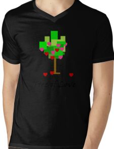 Tree of Love Mens V-Neck T-Shirt