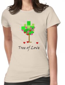Tree of Love Womens Fitted T-Shirt