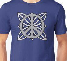 Peace Sign Dark Gray over Light Gray Unisex T-Shirt