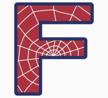 F letter in Spider-Man style by florintenica