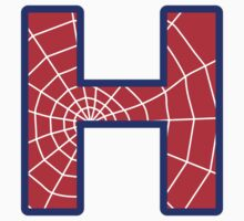 H letter in Spider-Man style by florintenica