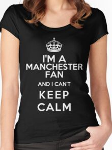 Keep Calm I Support Manchester United Women's Fitted Scoop T-Shirt