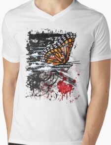 Bullet with Butterfly Wings Mens V-Neck T-Shirt