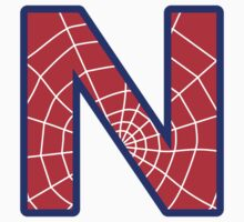 N letter in Spider-Man style by florintenica