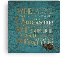 To a mouse Canvas Print
