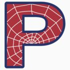 P letter in Spider-Man style by florintenica