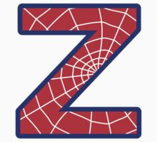 Z letter in Spider-Man style by florintenica