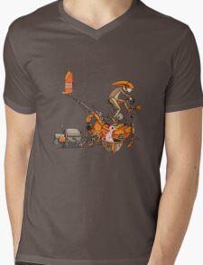 Cyclist Mens V-Neck T-Shirt