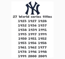 New York Yankees - 27 Major League Baseball titles by J C