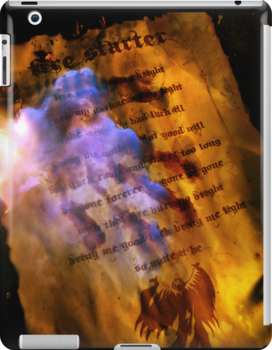 iPAD CASE - Firestarter (a page from the book of shadows) V2 by Darren Bailey LRPS
