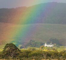 Rainbow over Farmstead by kernuak