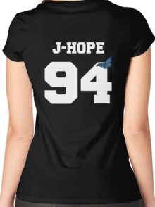 BTS- J-Hope 94 Line Butterfly Jersey Women's Fitted Scoop T-Shirt