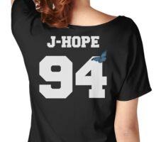 BTS- J-Hope 94 Line Butterfly Jersey Women's Relaxed Fit T-Shirt