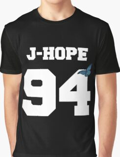 BTS- J-Hope 94 Line Butterfly Jersey Graphic T-Shirt