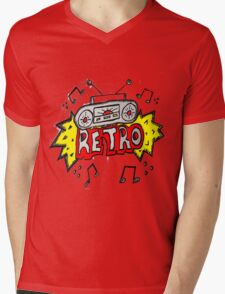 Retro Mens V-Neck T-Shirt