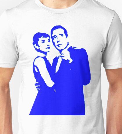 humphrey bogart and audrey hepburn, pure blue Unisex T-Shirt
