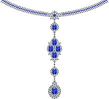 Sapphire Enchantment Necklace by eldonshorey