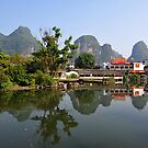 Little Town Of Yangshuo, China. by Ralph de Zilva