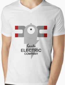 Kanto Electric Company Mens V-Neck T-Shirt