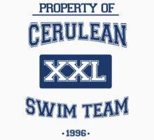 Cerulean Swim Team Baby Tee
