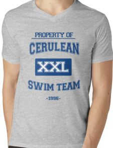 Cerulean Swim Team Mens V-Neck T-Shirt