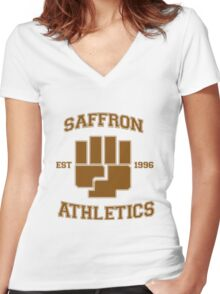 Saffron Athletics Women's Fitted V-Neck T-Shirt