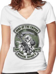 Sons Of The Empire! Women's Fitted V-Neck T-Shirt