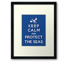 Keep Calm And Protect The Seas Framed Print