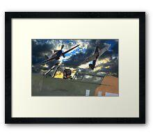 Hurricane Heroes Framed Print