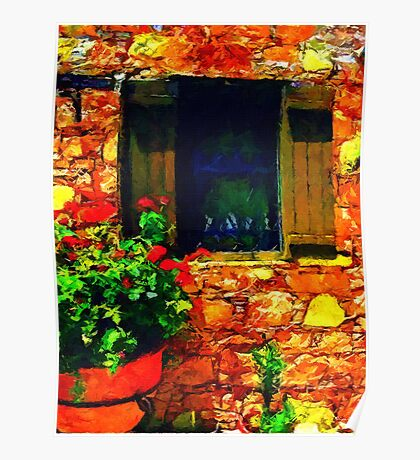 Window Onto Greece Poster