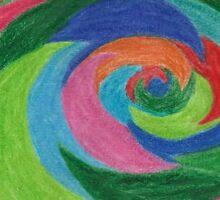 colour swirl Sticker